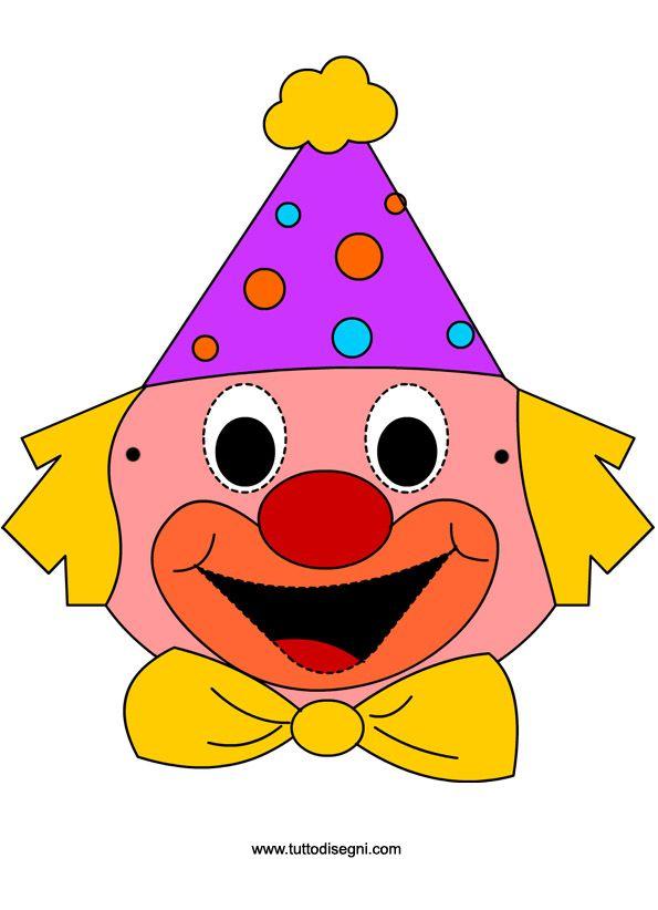 Pagliaccio Maschere Di Carnevale Per Bambini Tuttodisegnicom