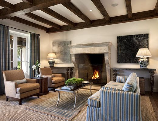 Ann James Interior Design | Mediterranean Residence (only fireplace)