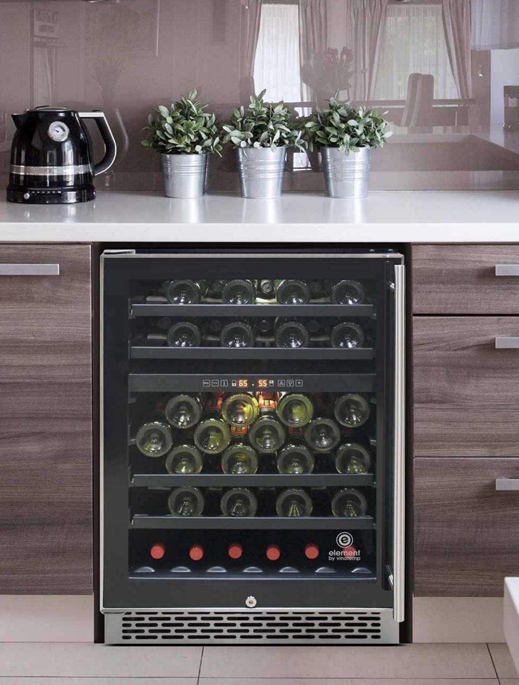 Vinotemp S Butler Series 46 Bottle Dual Zone Wine Cooler Left Hinge Is A Must Have For The Avid Wine Collecto Dual Zone Wine Cooler Wine Cooler Magnum Bottle