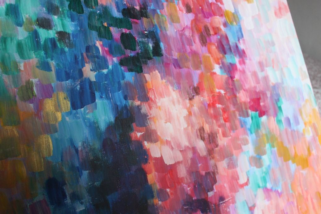 Swoon Worthy: Adventures in Painting: Abstract Impressionism and the Decorating Domino Effect