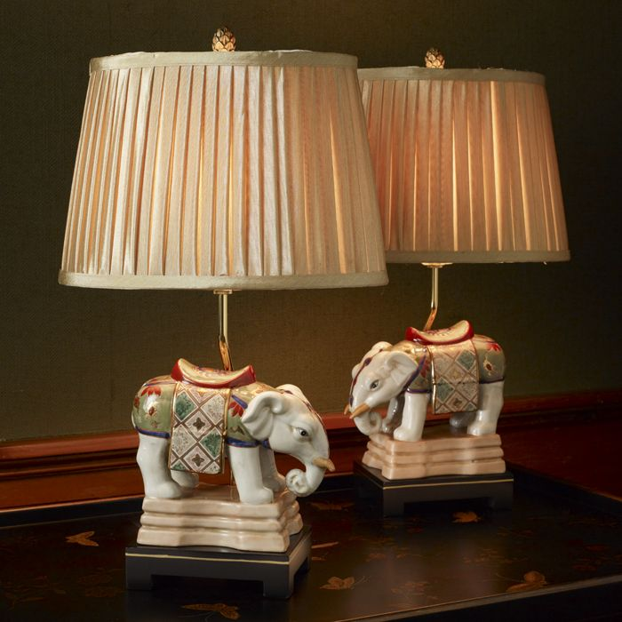 Porcelain Elephant Lamps - Decorative Accessories