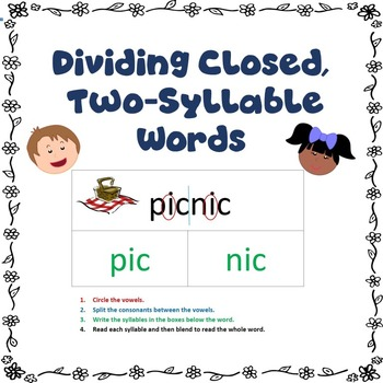 Dividing Closed, Two-Syllable Words It is, Colors and Examples