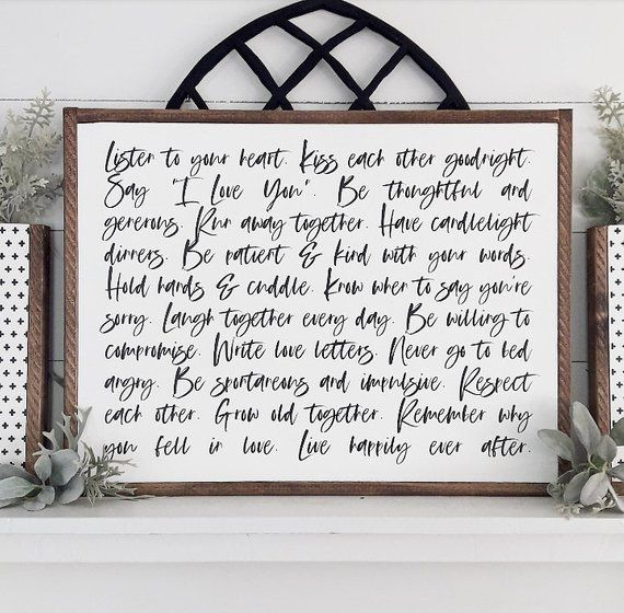 Love Story | Love guide | Love Quote | Farmhouse Bedroom Decor | Wedding Gifts | Rustic Wood Wall Ha