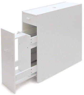 Slimline Bathroom Storage Cupboard Cabinet Unit Rack White Wc Toilet Roll Holder Slimline Bathroom Storage Bathroom Storage Units Bathroom Cupboard Storage