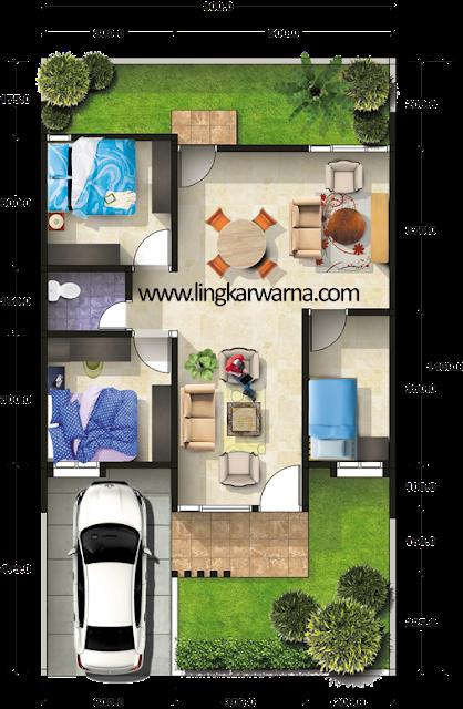 Denah Rumah Minimalis Type 64 3 Kamar Tidur 1 Lantai Denah Rumah