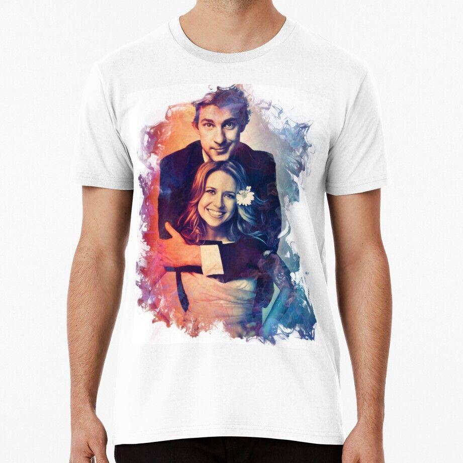 Jim And Pam Men's Premium T-shirt by swanspirate520