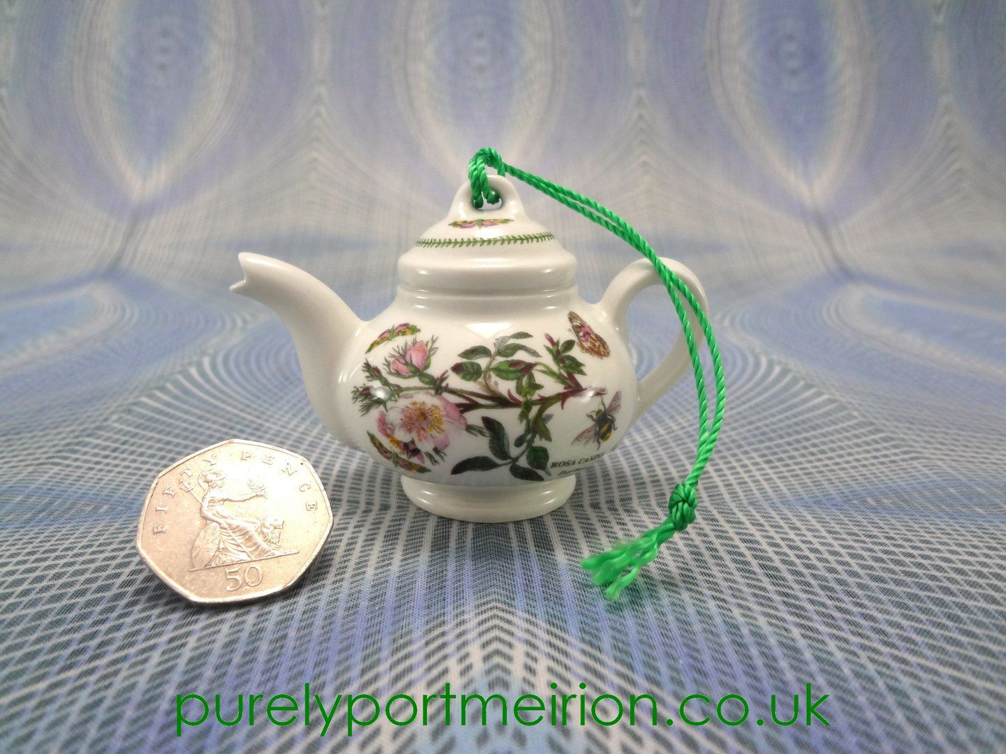 a delightful portmeirion miniature teapot xmas decoration in botanic garden design by susan williams ellis buy from purely portmeirion