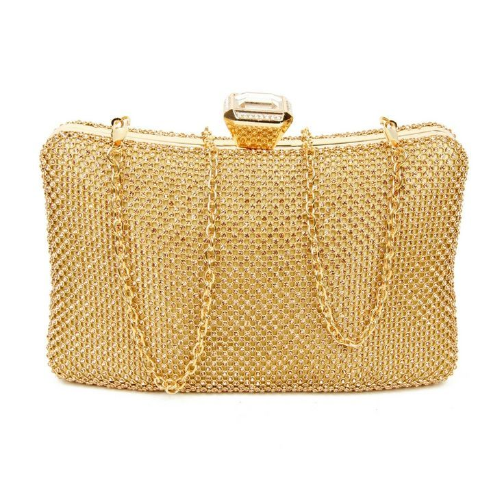 Golden Clutch Bag Sparkle And Shine With This Shimmering Perfectly Complements Any Outfit Accessories Evening Bags