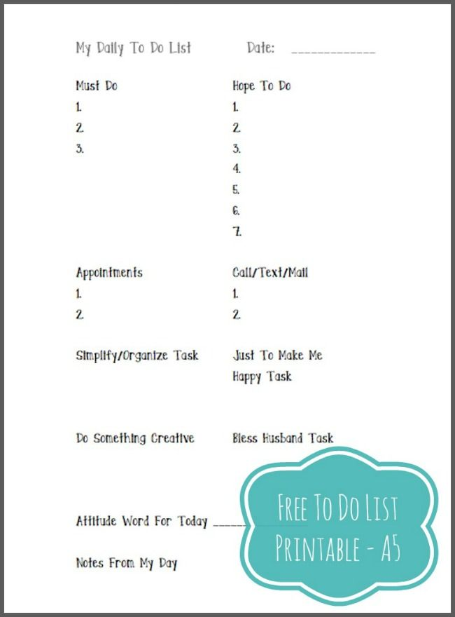 free printable to do list planners memory journals filofax