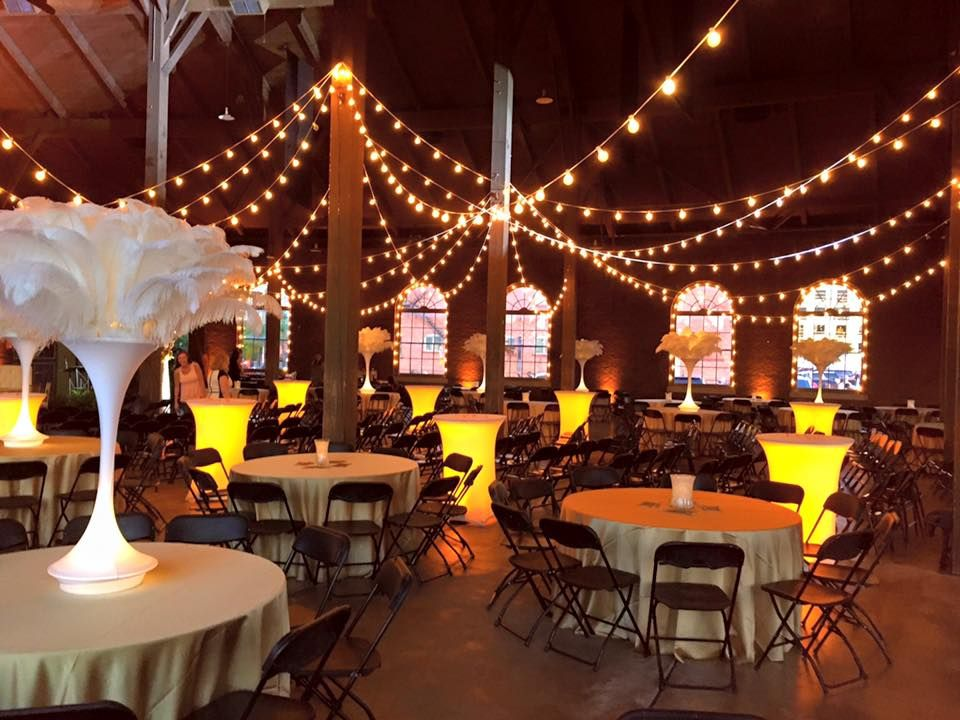 Wedding At The Roundhouse Depot Venue And Event Space Huntsville Al Lighting By Steve Metz The Roundhouse At At The Histori Wedding Venues Round House Venues
