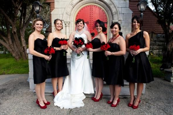 Black shoes with white wedding dress