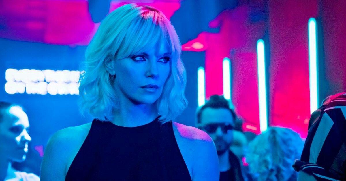 Charlize theron + Neon lights Atomic Blonde (2017)