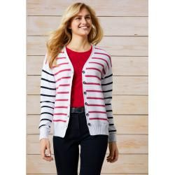 Photo of Walbusch Damen Yachting Cardigan gestreift Weiß/Marine Walbusch