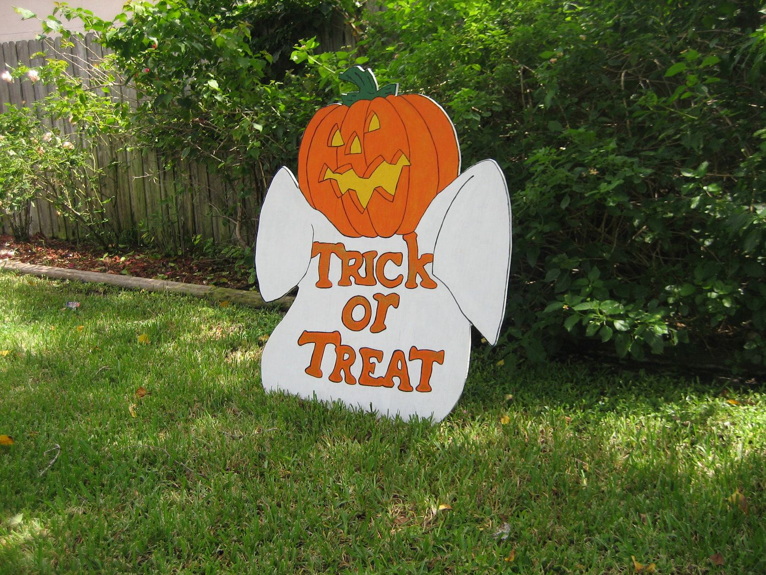 2014 scary ghost w pumpkins head halloween yard art decoration - Etsy Halloween Decorations