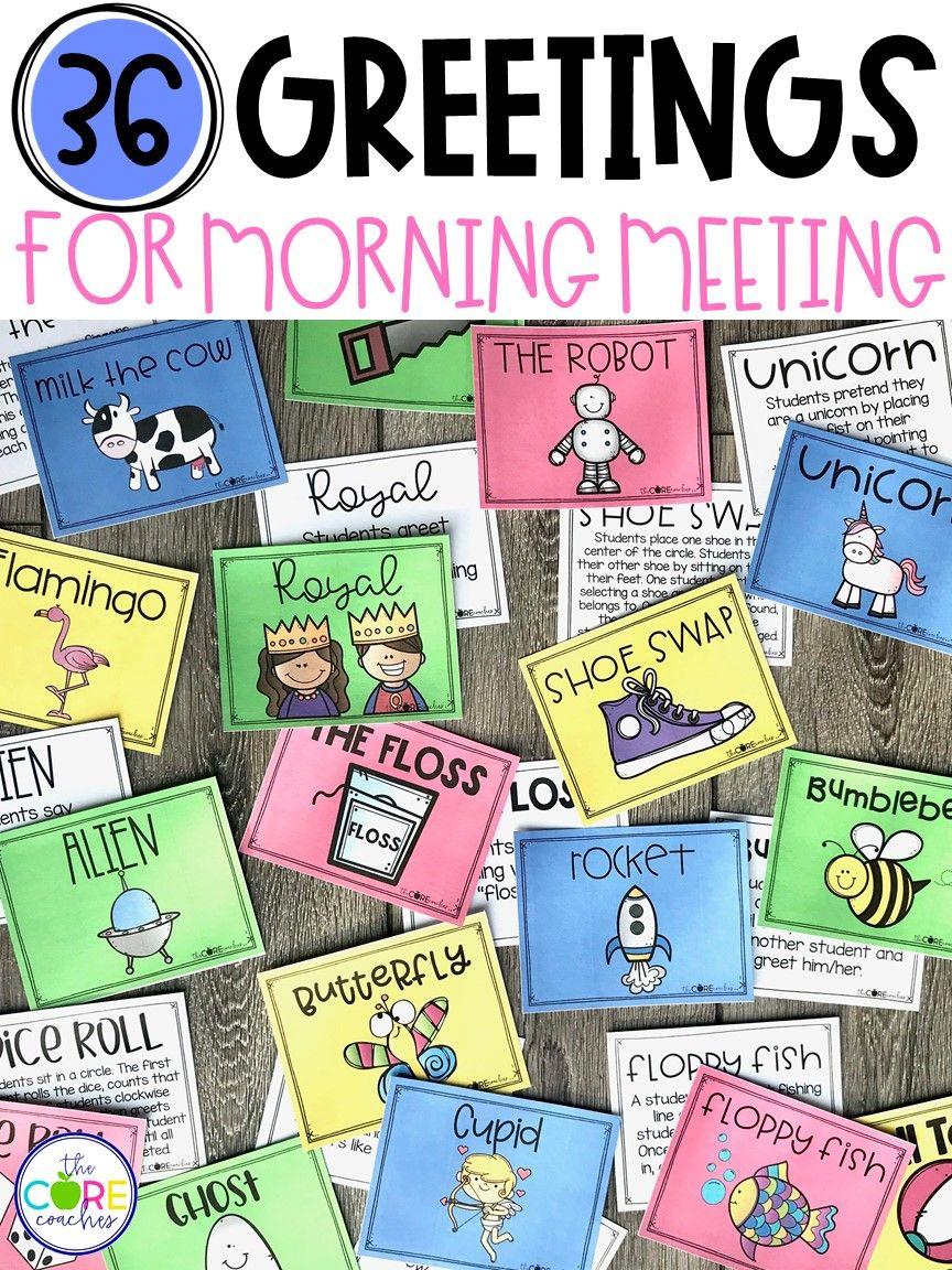 12++ Morning meeting games kindergarten collection