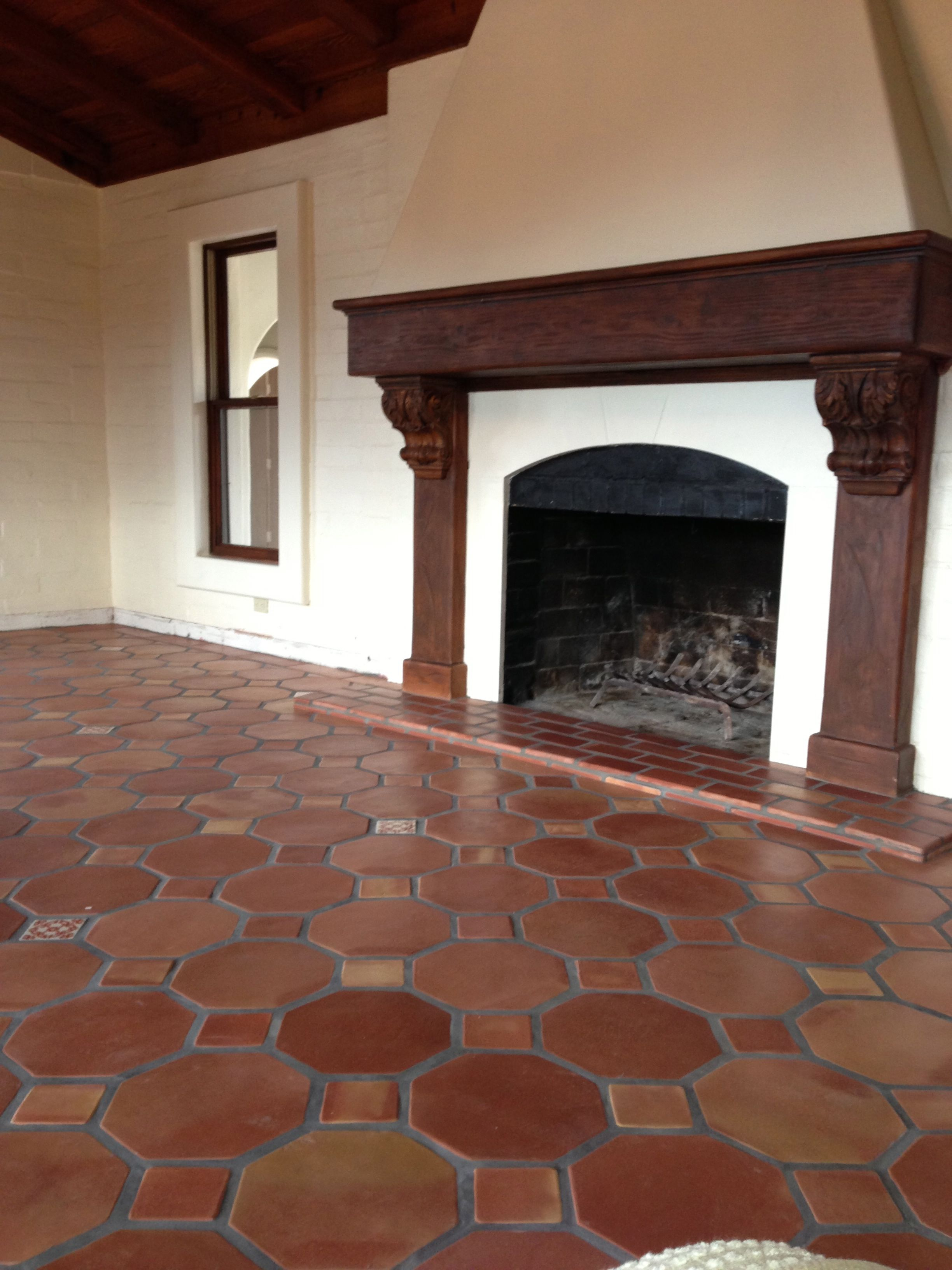 Octagon Pattern Saltillo Terra Cotta Floor Tile Spanish Style Homes Terracotta