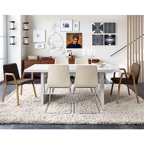 Drake Natural Shag Rug In Rugs Cb2 Affordable Modern Furniture Slab Dining Tables G Plan Furniture