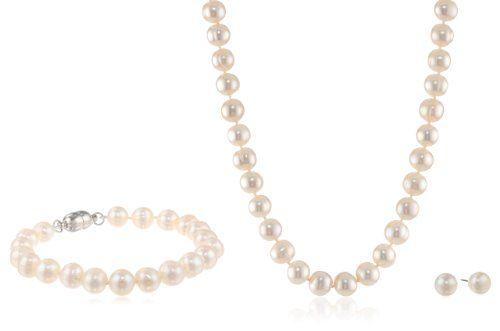 White Freshwater Cultured Pearl Jewel... $49.99
