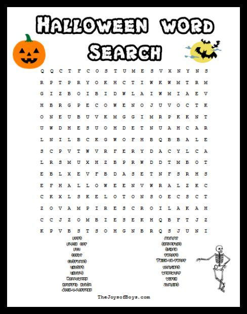 halloween word search spooky fun for a halloween party
