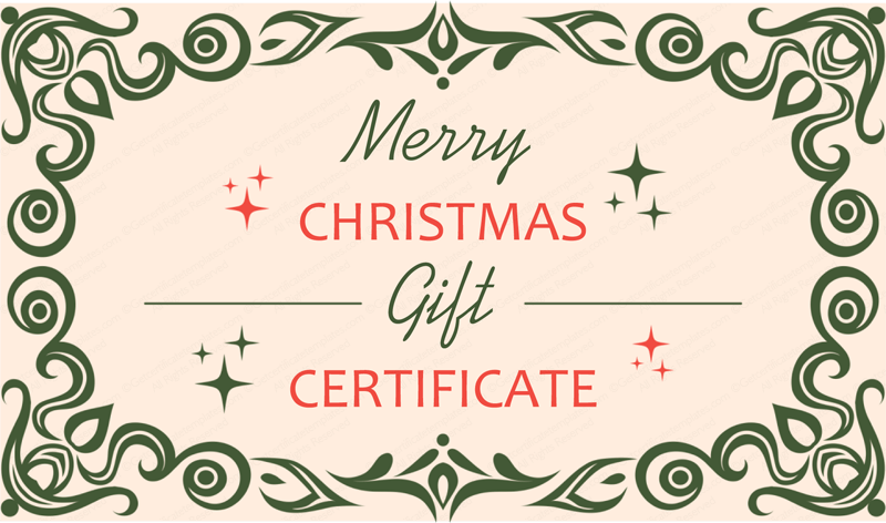 get beautifully designed christmas gift certificate template from our premium certificates collection