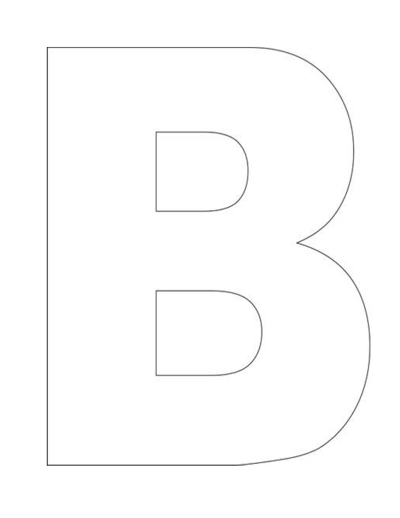 letter b template letter b search toddler learning 37559