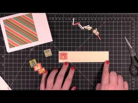 @Kristina Werner showing steps to make her lovely patterned paper card!