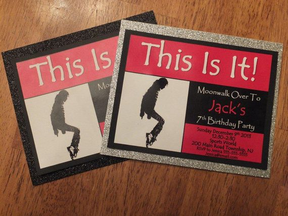 Michael Jackson Party Invitations InspiredByParties 3000