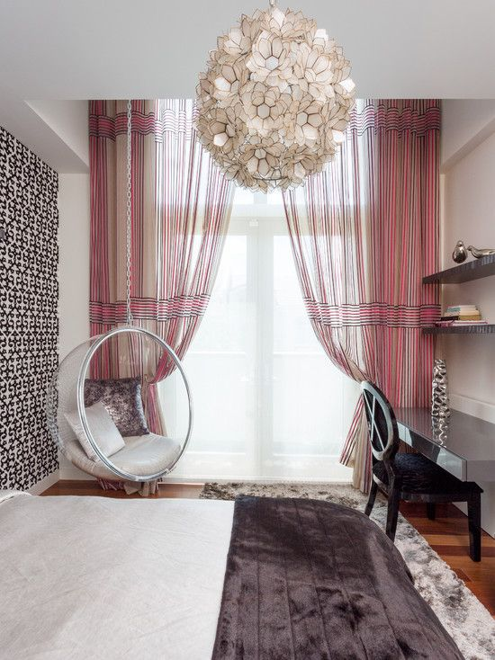 Another Cool Teenager Room Love The Hanging Chair And The