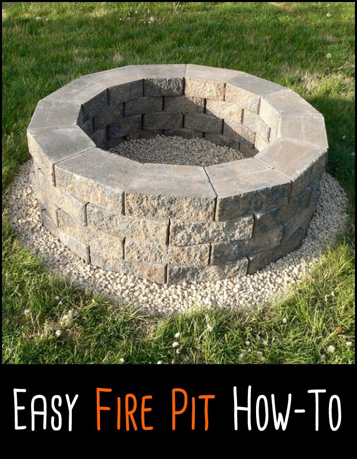 This is probably the easiest fire pit project we ve ever for Fire pit project