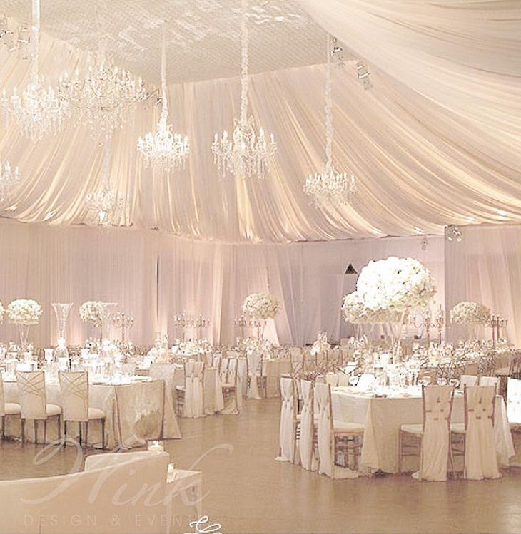 Multiple Wedding Receptions: Love The Ceilings And The Multiple Chandelier.