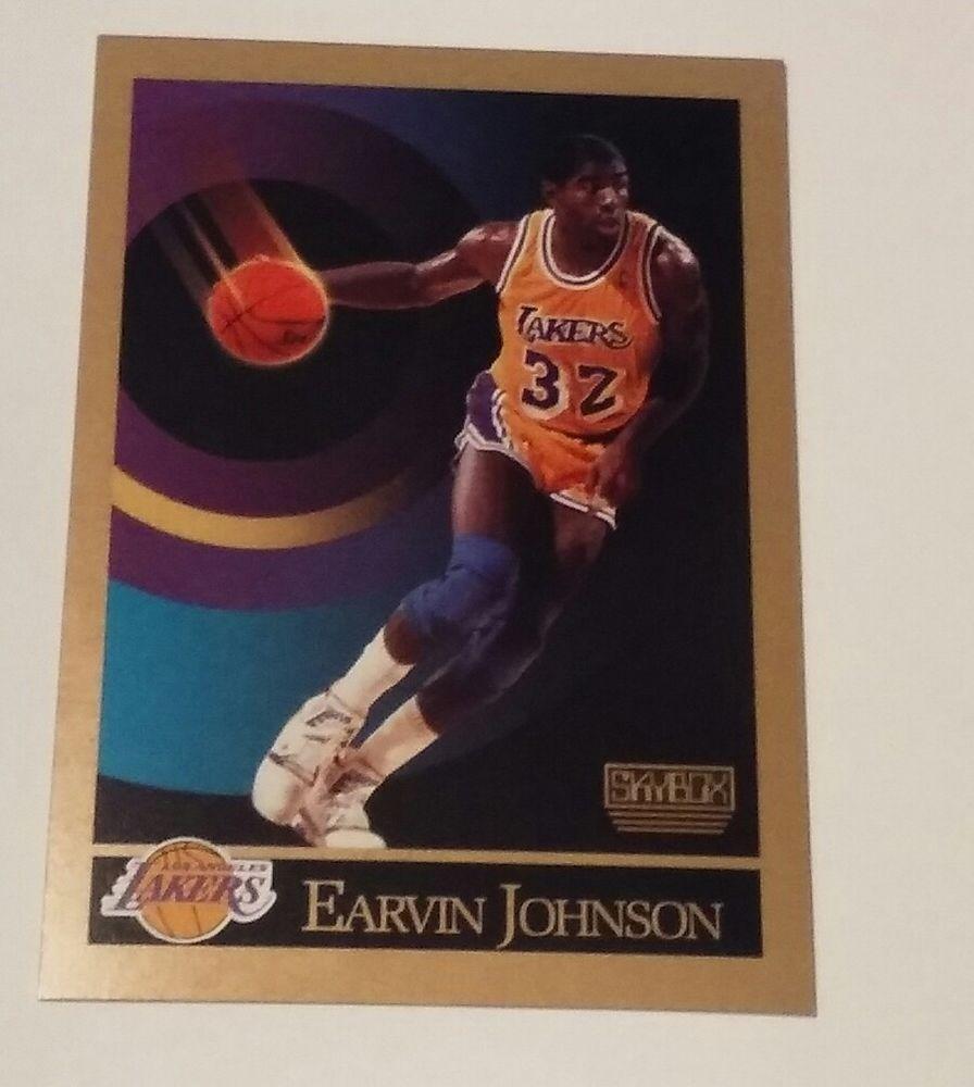 1990 skybox magic johnson 138 nba basketball card la