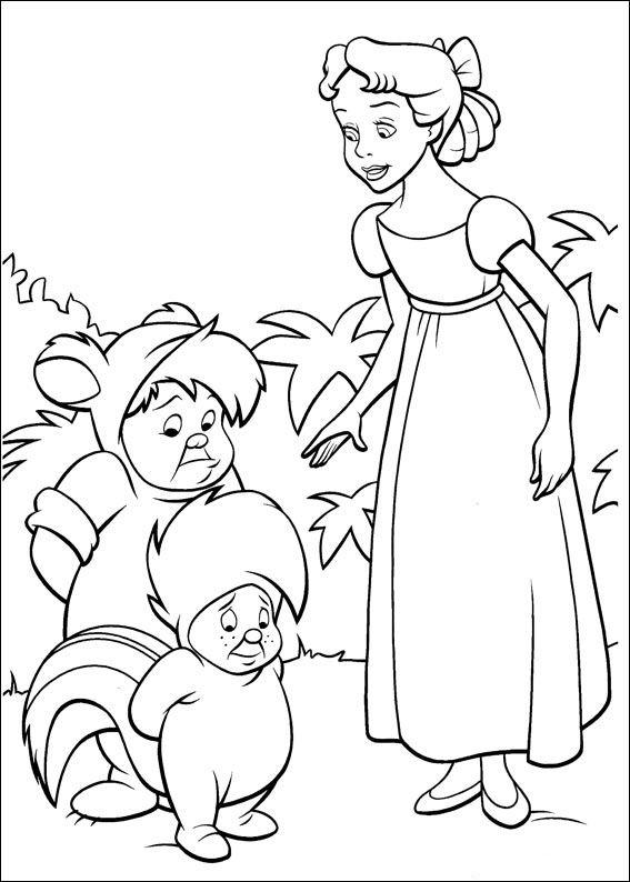 peter pan mermaid coloring pages - photo#17