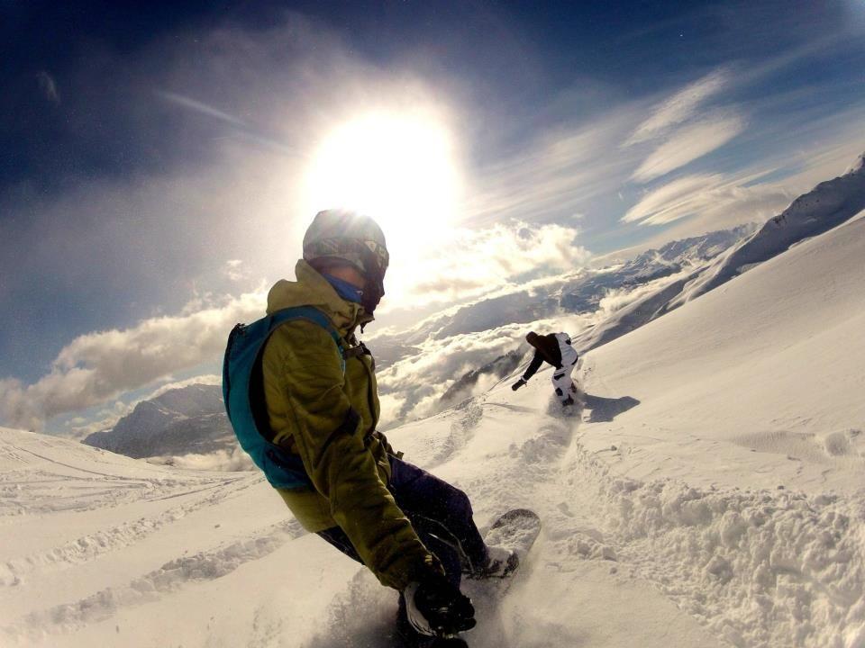 Snowboarding in a powder paradise with GoPro fan Paul Sohr in Flimss-Laax, Switzerland!