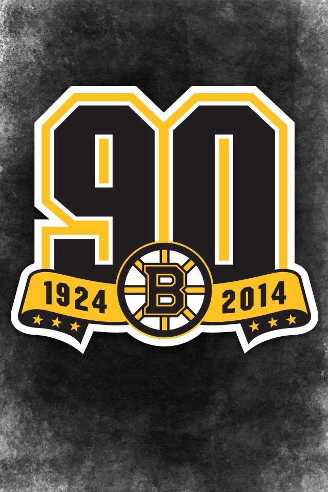 90th Anniversary Logo Wallpaper Boston Bruins Nhl Boston Bruins Bruins
