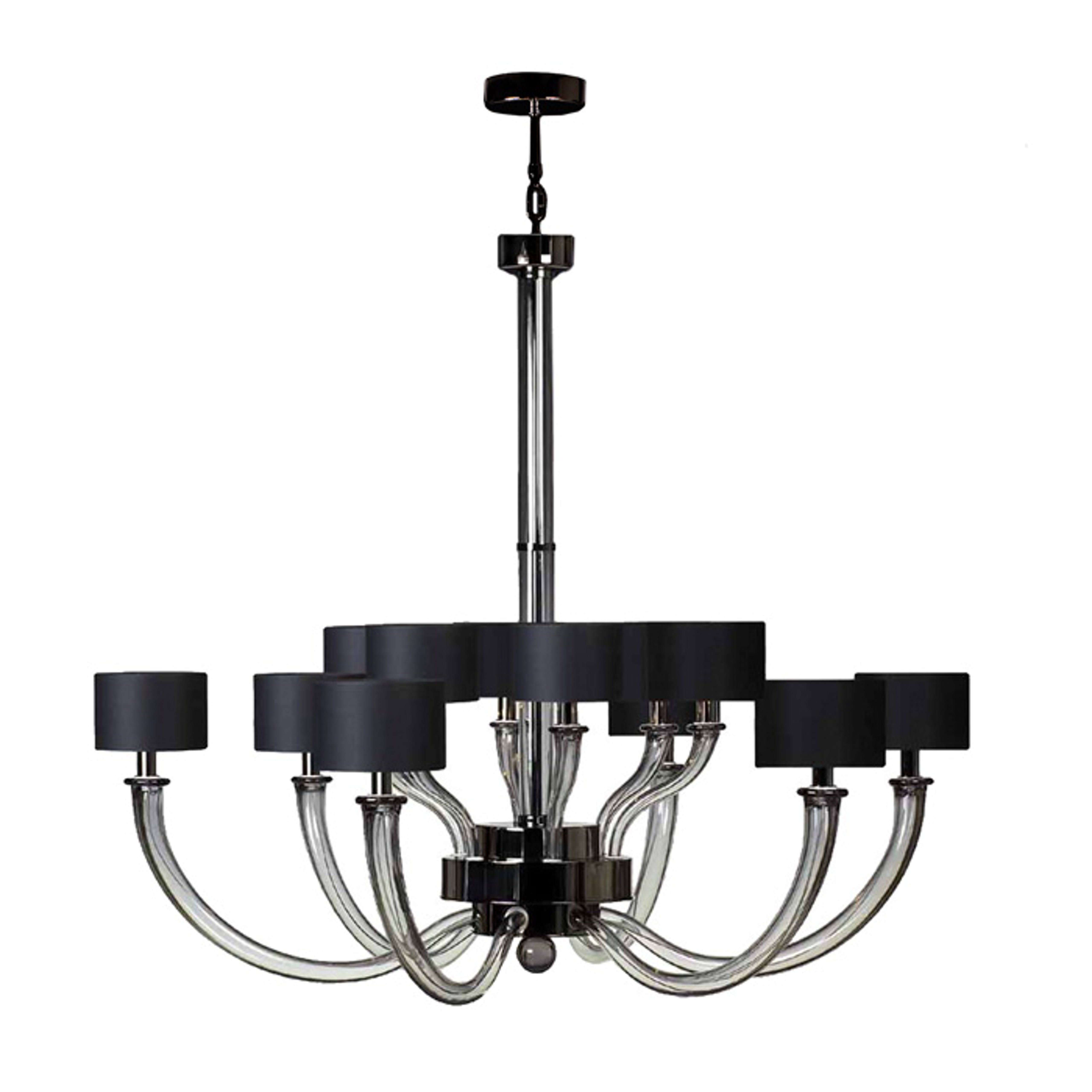 Donghia Fontana Chandelier 12 Arm Lighting Ceiling Wood Glass Chandelier Cool Chandeliers Classic Lighting