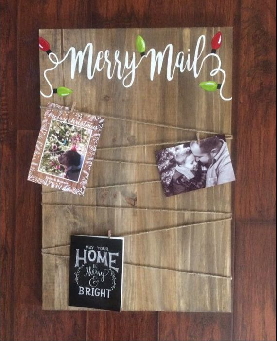 Merry Mail Christmas Card Holder Each Sign Is Custom Built
