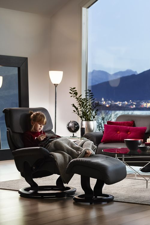 so kuschelig bequem der stressless sessel capri mit dem. Black Bedroom Furniture Sets. Home Design Ideas