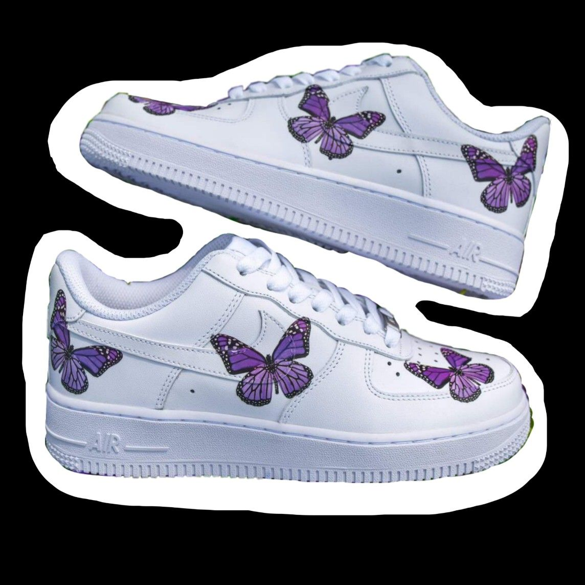 'Air Force with purple butterflies' Sticker by m1chelle