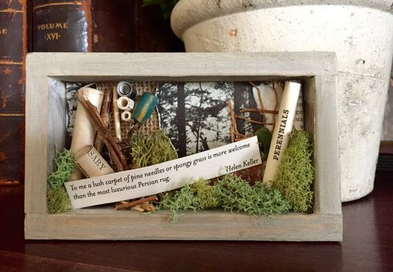 Helen Keller Quote Shadowbox / Helen Keller Nature Shadowbox, $12