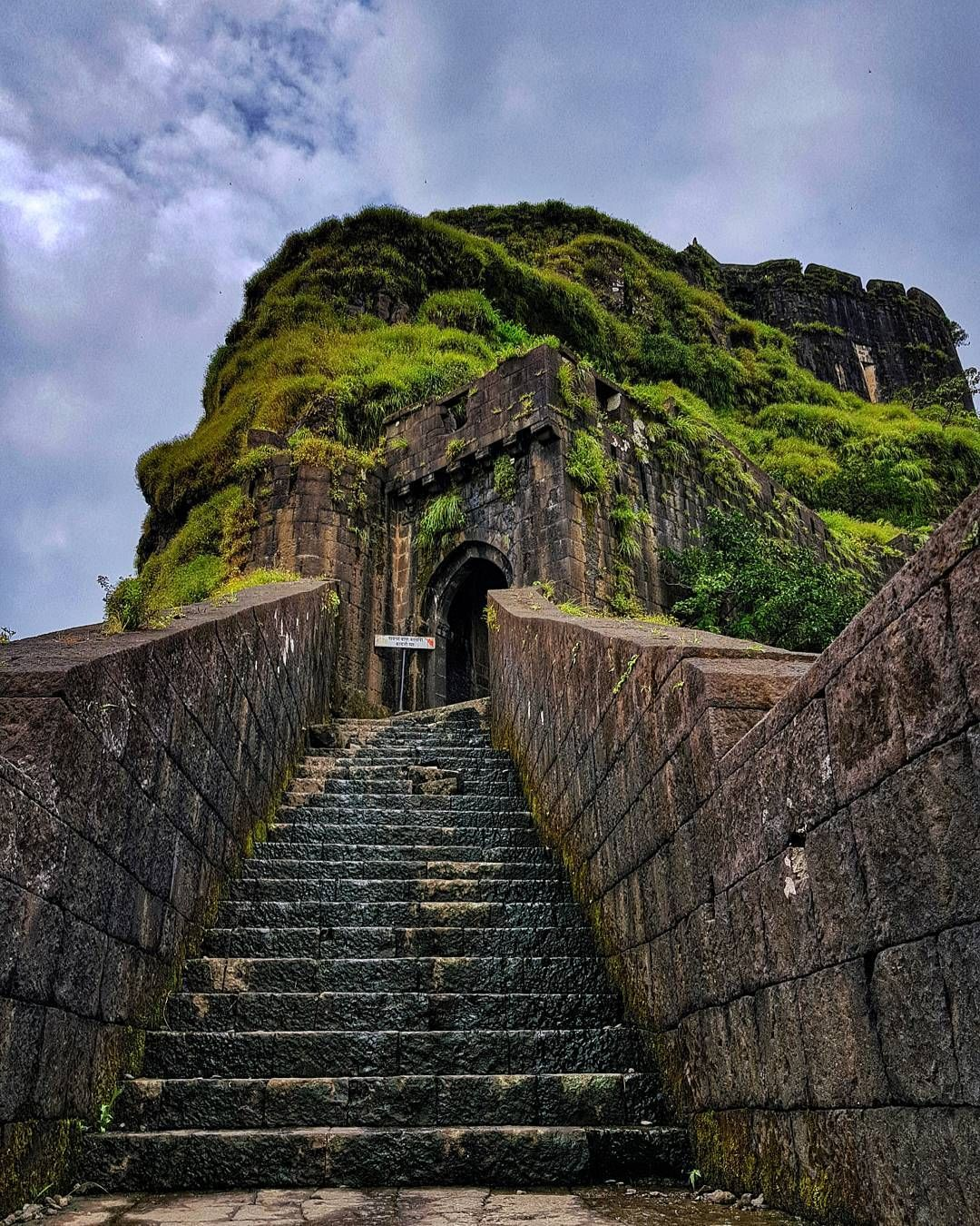 The king on top of the mountain. Lohagad Fort Maharashtra. #trek #travel