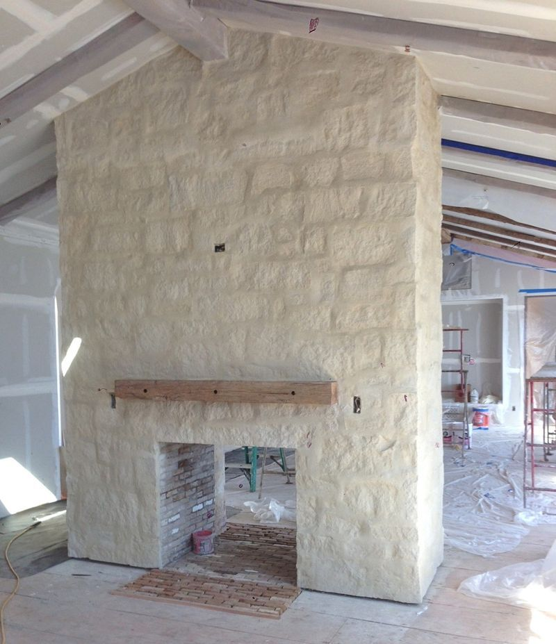 Living Room Stone Similar To Cottonwood Matching Mortar Sacked Grout Joints Outdoor Fireplacesstone