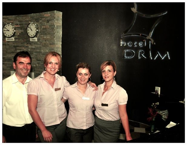 Let us present you a part of our Reception Desk team, your first contact with the Hotel Drim**** on site. :)     From left to right: Kire, Valentina, Jasmina and Emilija.