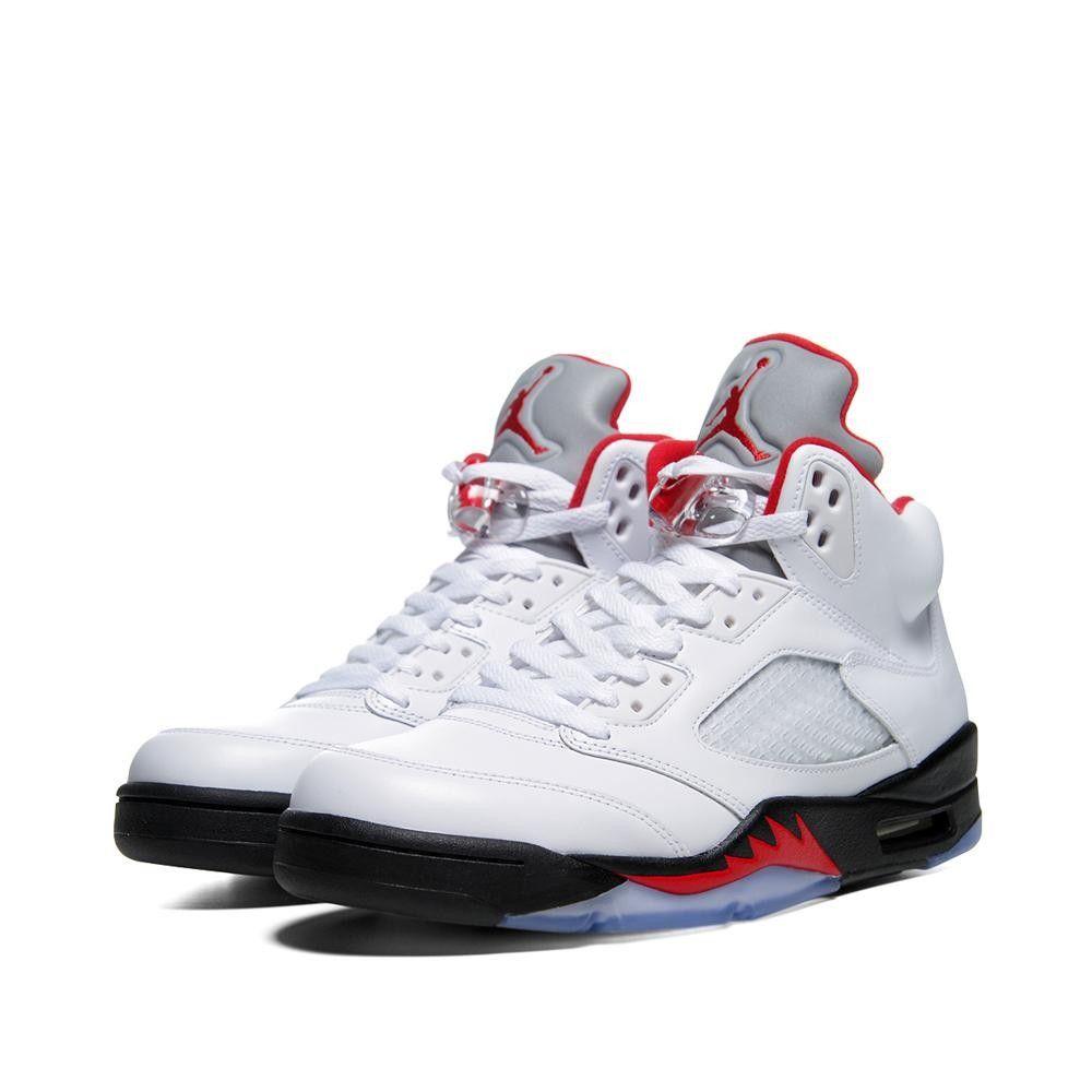 Air Jordan Retro V - White \u0026 Fire Red � Nike SpandexNike Free ...