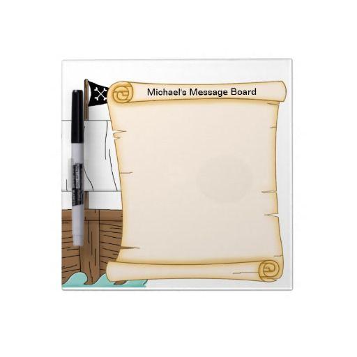 "Pirate""Dry Erase  Message Board Dry-Erase Whiteboard"