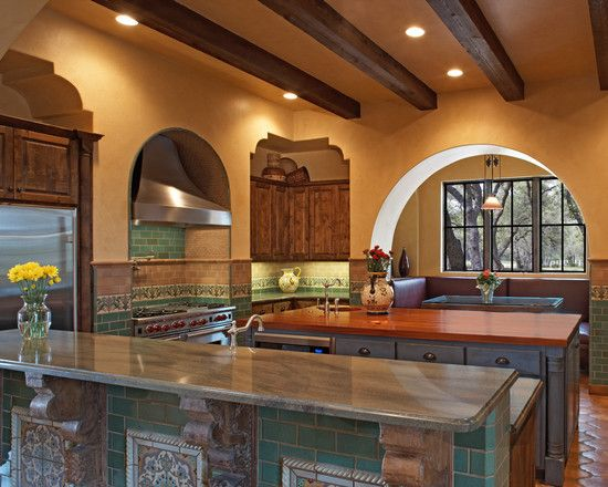 Mexican Style Kitchen Design Pictures Remodel Decor And