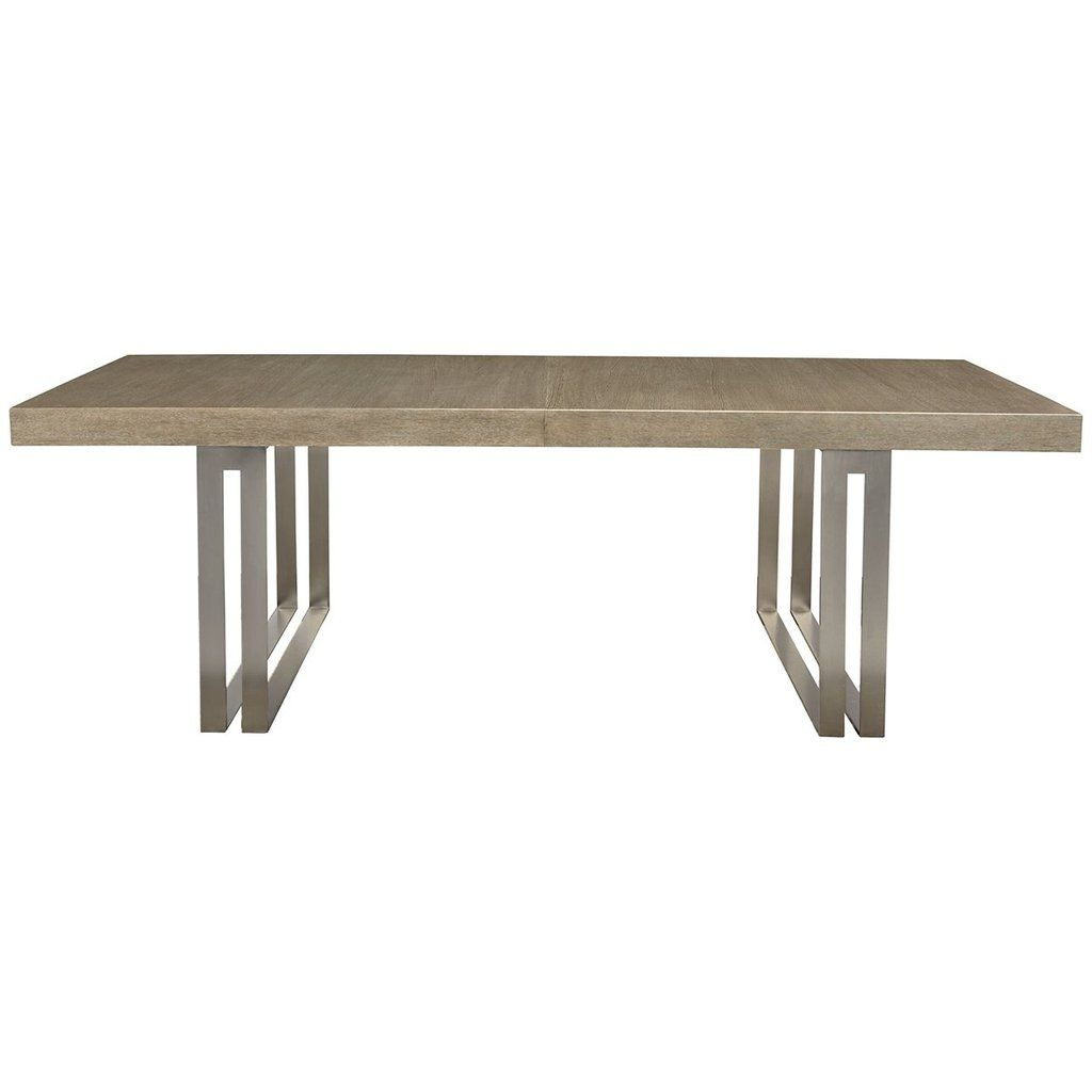 Bernhardt Mosaic Dining Table Stainless Steel Dining Table