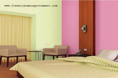 Home Interior Wall Paint Color Scheme with Pink Color, 450x300 in ...