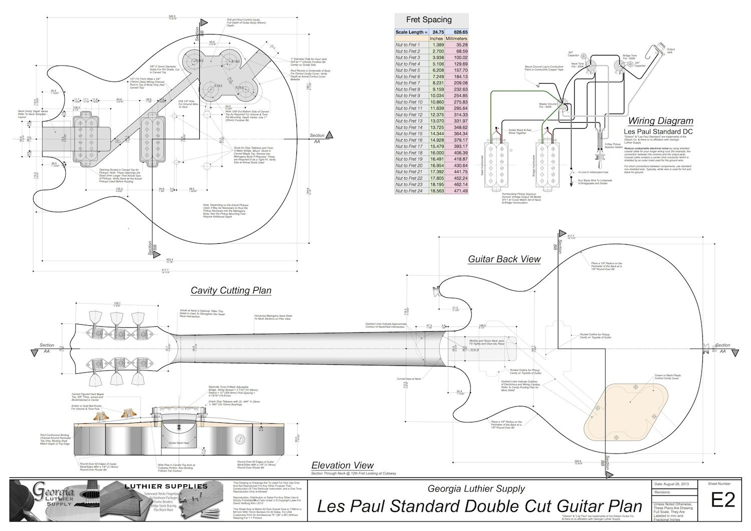 Les Paul Routing Template
