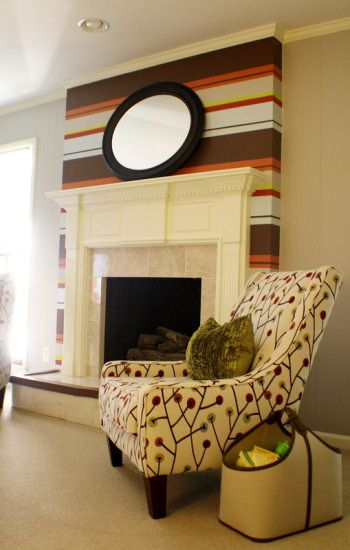 Bold Horizontal Striped Fireplace | Traditional fireplace ...