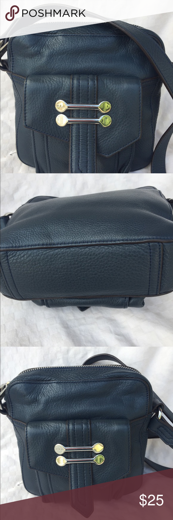 3e28a4a1b6 Lauren Ralph Lauren Crossbody bag blue Lauren Ralph Lauren blue leather bag.  Can be worn